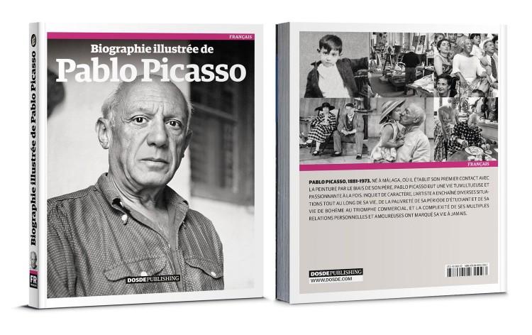 Couverture Biographie De Picasso Livre Francais Dosde Publishing