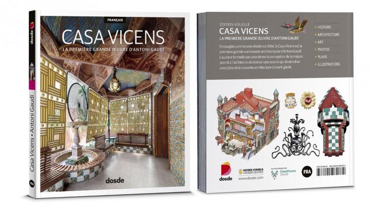 Couverture Casa Vicens Barcelona Gaudí Livre Français Dosde