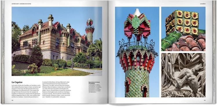 Livre Antoni Gaudi Ensemble De Oeuvre Deluxe Edition Francais Dosde Publishing
