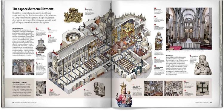 Livre Cathedrale Saint Jacques De Compostelle Deluxe Francais Dosde Publishing